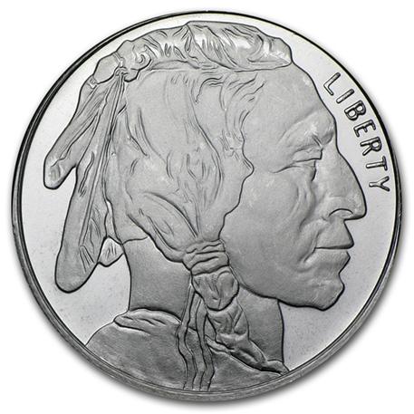 M daille argent 1 once bison d 39 am rique - Coloriage bison d amerique ...
