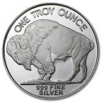 Médaille argent 1 once - Bison d'Amérique Revers