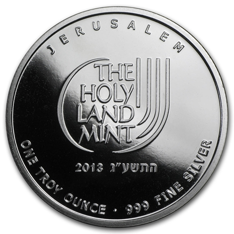 Médaille argent 1 once - Colombe de la Paix 2013 Revers