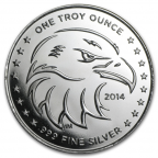 Médaille argent 1 once - Regard de l'aigle 2014 Avers
