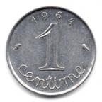 (FMO.001.1964.7.6.000000001) 1 centime Epi 1964 (rebord) Revers