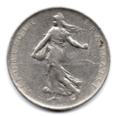 (FMO.1.1968.27.10.000000001) 1 Franc Semeuse 1968 Avers