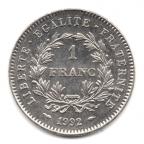 (FMO.1.1992.30.1.000000003) 1 Franc République 1992 Reverse