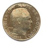 (W150.020.1982.1.21.000000002) 20 centimes Rainier III 1982 Avers