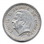 (W150.100.1943.1.1.000000004) 1 Franc Louis II 1943 Avers