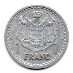 (W150.100.1943.1.1.000000004) 1 Franc Louis II 1943 Revers