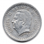 (W150.100.1943.1.1.000000005) 1 Franc Louis II 1943 Avers