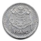 (W150.100.1943.1.1.000000005) 1 Franc Louis II 1943 Revers