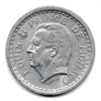 (W150.100.1943.1.1.000000006) 1 Franc Louis II 1943 Avers