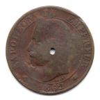 (FMO.005.1862_A.5.4.000000001) Cinq centimes Napoléon III, Tête laurée 1862 A Avers