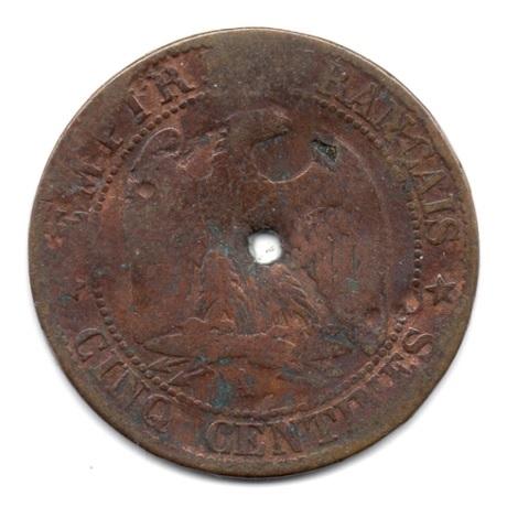 (FMO.005.1862_A.5.4.000000001) Cinq centimes Napoléon III, Tête laurée 1862 A Revers