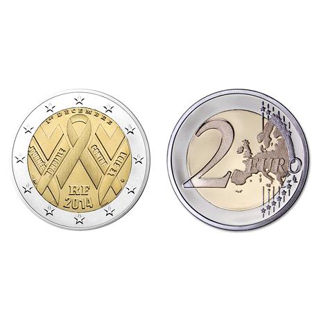 2 euro commémorative France 2014 - SIDA (visuel supplémentaire)