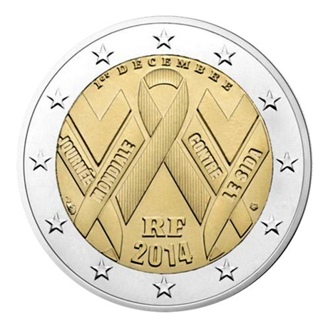 2 euro commémorative France 2014 - SIDA