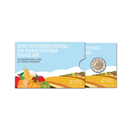 2 euro commémorative Portugal 2014 BE - Année internationale de l'agriculture familiale (packaging)