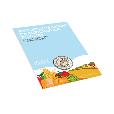 2 euro commémorative Portugal 2014 BU - Année internationale de l'agriculture familiale (packaging)