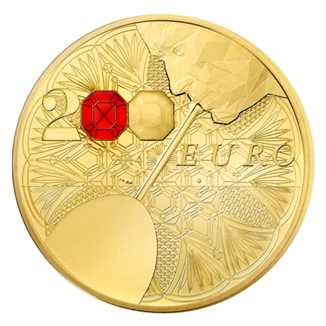 200 euro France 2014 or BE - Baccarat Revers