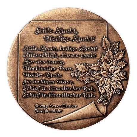 (MED01.Méd.Münze.Ö.2013.19240) Médaille cuivre patiné - Noël Revers
