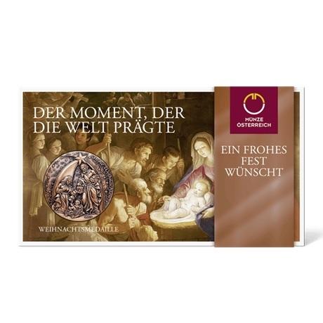 (MED01.Méd.Münze.Ö.2013.19240) Médaille cuivre patiné - Noël (packaging)