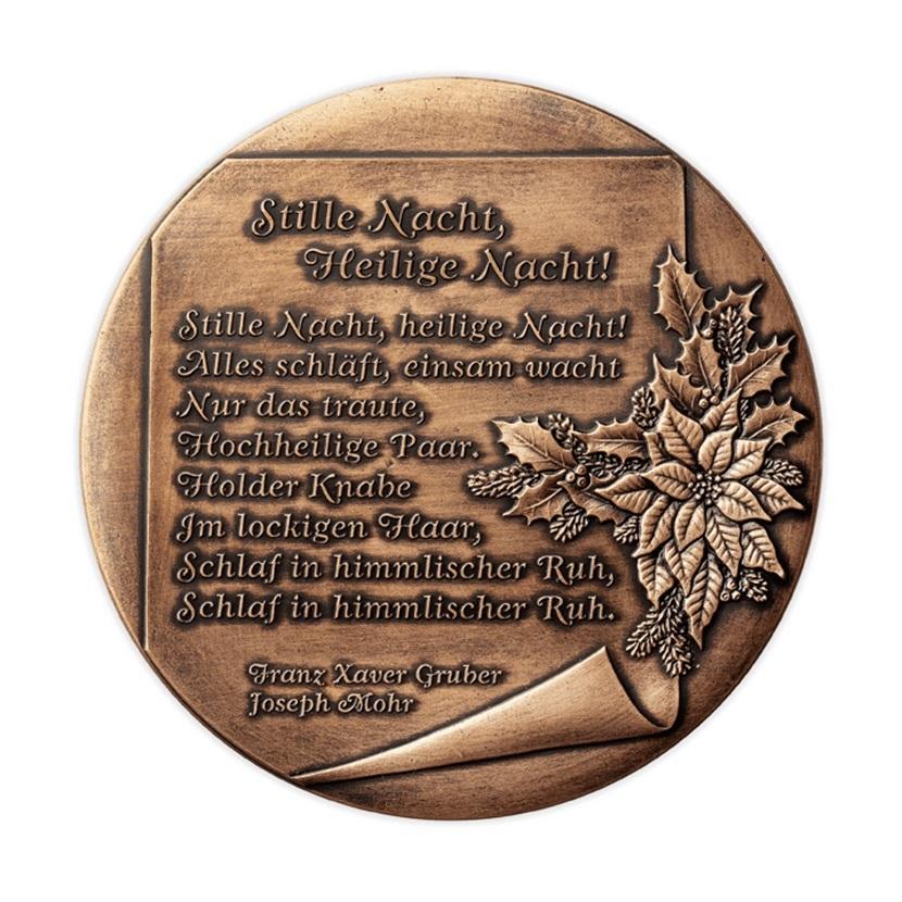 (MED01.Méd.Münze.Ö.2013.19240) Patinated copper medal - Christmas Reverse (zoom)