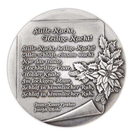 (MED01.Méd.Münze.Ö.2013.19241) Médaille argent patiné - Noël Revers