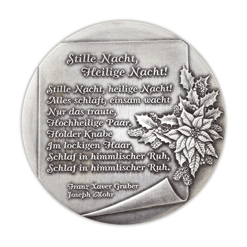 (MED01.Méd.Münze.Ö.2013.19241) Patinated silver medal - Christmas Reverse (zoom)