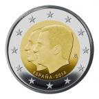 2 euro commémorative Espagne 2014 - Roi Philippe VI