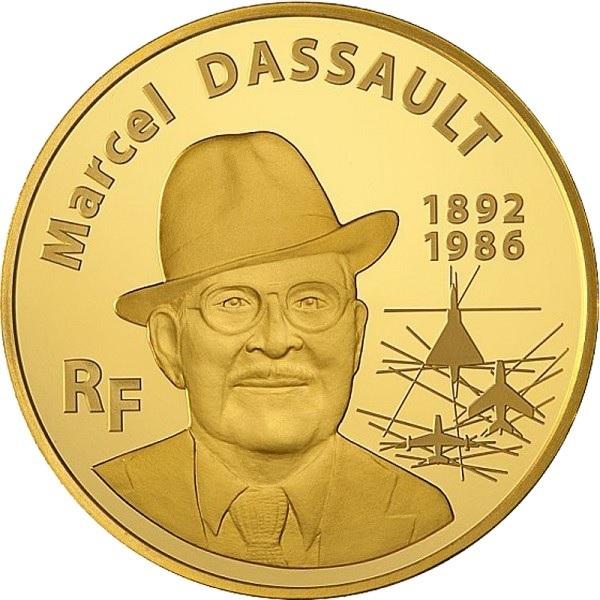 (EUR07.ComBU&BE.2010.10041263630000) 50 euro France 2010 Proof Au - Marcel Dassault Obverse (zoom)