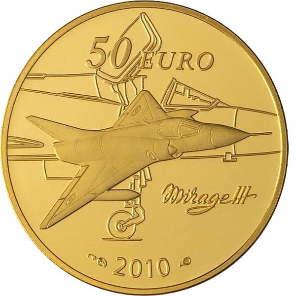 (EUR07.ComBU&BE.2010.10041263630000) 50 euro France 2010 Proof Au - Marcel Dassault Reverse (zoom)