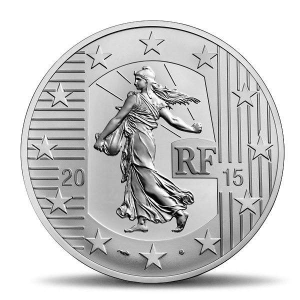 (EUR07.ComBU&BE.2015.1000.BE.10041292900000) 10 euro France 2015 Proof silver - Sower Obverse (zoom)