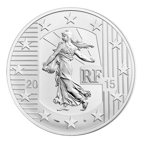 (EUR07.ComBU&BE.2015.1000.BE.10041292900000) 10 euro France 2015 argent BE - Semeuse Avers