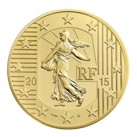 (EUR07.ComBU&BE.2015.10041292880000) 50 euro France 2015 Au BE - Semeuse Avers
