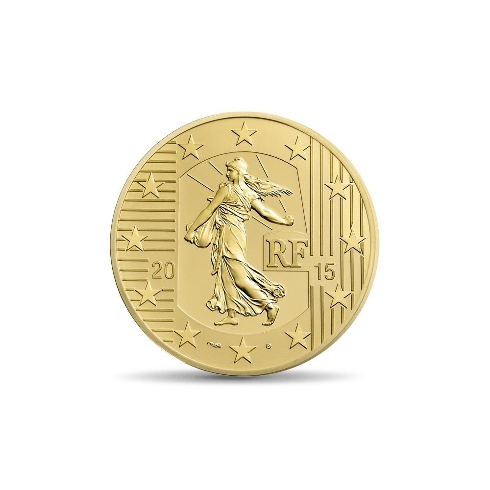(EUR07.ComBU&BE.2015.10041292880000) 50 euro France 2015 Proof gold - Sower Obverse (zoom)