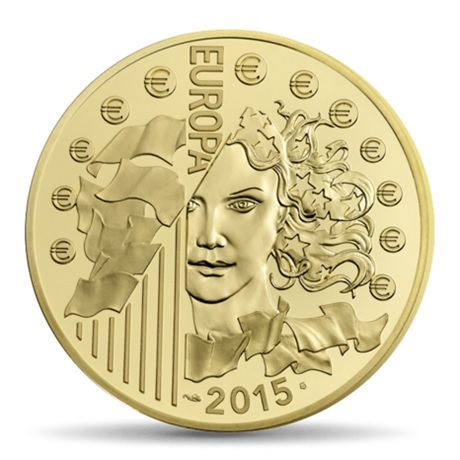 (EUR07.ComBU&BE.2015.10041292940000) 5 euro France 2015 Au BE - Europa Avers