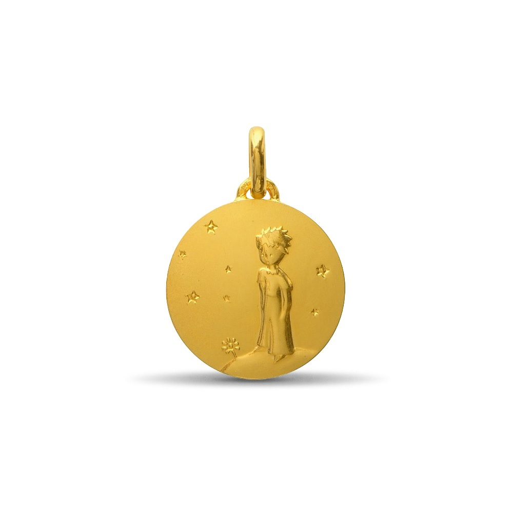 (FMED.Méd.couMdP.10011264830P00) Gold pendant medal - The Little Prince on his planet Obverse (zoom)