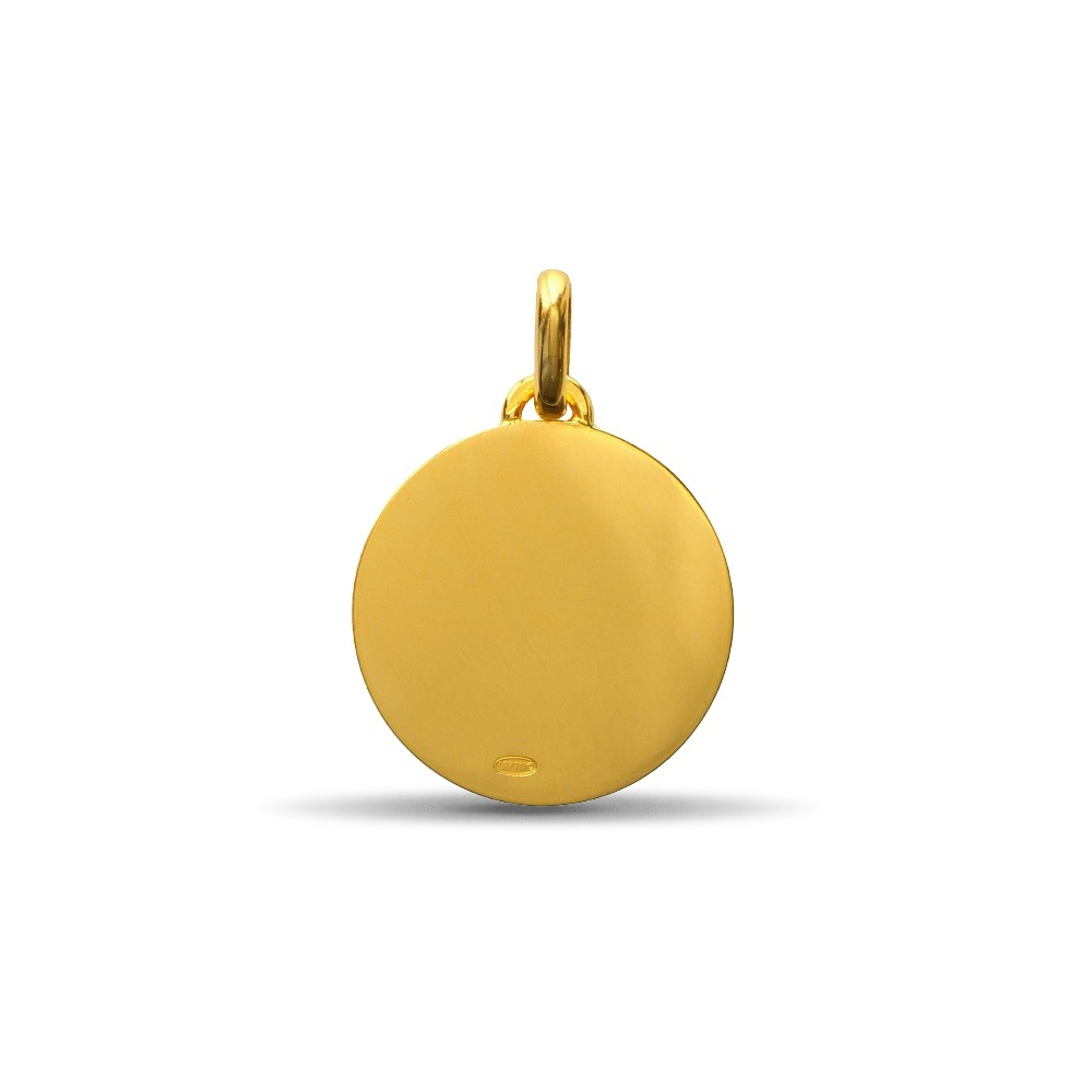 (FMED.Méd.couMdP.10011264830P00) Gold pendant medal - The Little Prince on his planet Reverse (zoom)