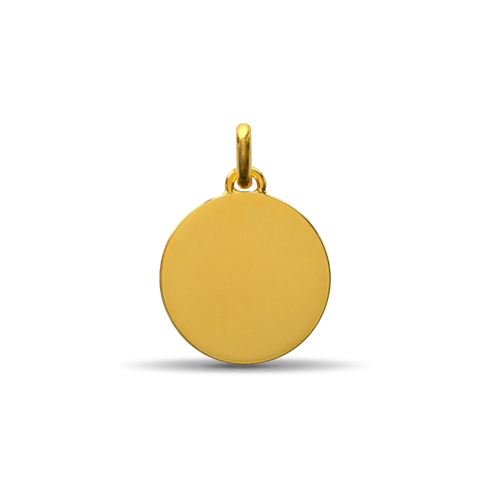 (FMED.Méd.couMdP.10011264980P00) Gold pendant medal - The Little Prince in the grass Reverse (zoom)