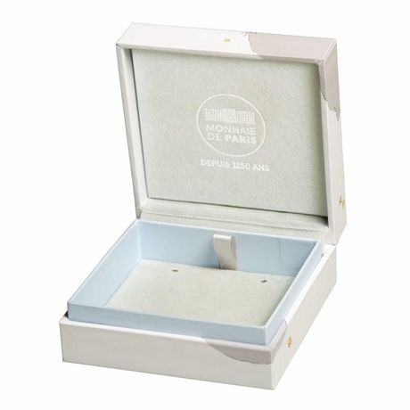 (FMED.Méd.couMdP.10011264980P00) Médaille de cou Au - Le Petit Prince couché dans herbe (écrin ouvert)