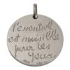 (FMED.Méd.couMdP.Ag1) Médaille de cou argent - []L'essentiel est invisible pour les yeux[] Revers