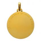(FMED.Méd.couMdP.Au12) Médaille de cou or - Le Petit Prince sur sa planète Revers