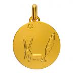 (FMED.Méd.couMdP.Au14) Médaille de cou or - Le Renard Avers