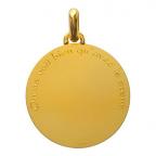 (FMED.Méd.couMdP.Au14) Médaille de cou or - Le Renard Revers
