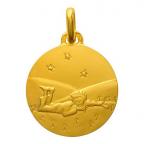 (FMED.Méd.couMdP.Au5) Médaille de cou or - Le Petit Prince couché dans l'herbe Avers