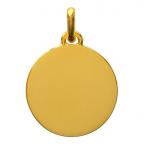 (FMED.Méd.couMdP.Au5) Médaille de cou or - Le Petit Prince couché dans l'herbe Revers