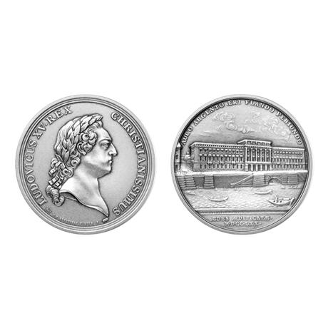 Médaille bronze argenté - Construction de l'Hôtel des monnaies (visuel supplémentaire)