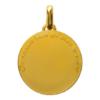 Médaille de cou or - Le Petit Prince couché dans l'herbe Revers