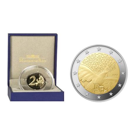 2 euro commémorative France 2015 BE - Paix en Europe (visuel complémentaire)
