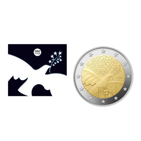 2 euro commémorative France 2015 BU - Paix en Europe (visuel complémentaire)
