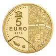 5 euro France 2015 or BE - Hôtel des Invalides et Grand Palais Revers