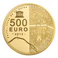500 euro France 2015 or BE - Hôtel des Invalides et Grand Palais Revers