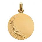 (FMED.Méd.couMdP.Au14.1) Médaille de cou or - Les Amours Revers